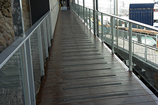 Penneshaw Sealink Terminal balustrade by McLaren Vale Glass