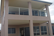 glass balustrade for two story house balcony at Moonta