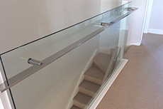 glass balustrade and handrail for Adelaide home