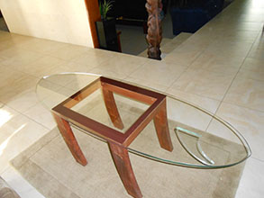 glass surfboard table top McLaren Vale Glass