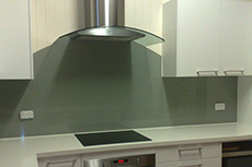curved top glass splashback